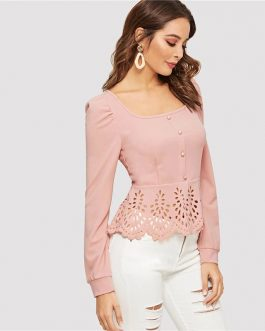 Women Elegant Slim Fit Tops and Blouses