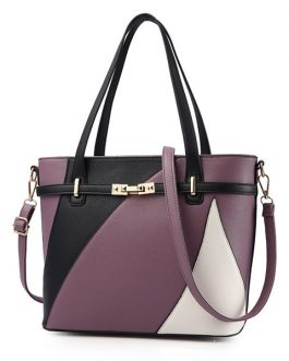 Women Faux Leather Stitching Color Crossbody Bag Designer Handbag Shoulder Bag