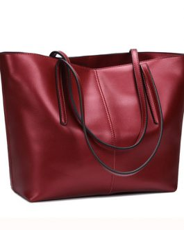 Women Geunine Leather Handbag Retro Shoulder Bag High-end Leather Tote Bag