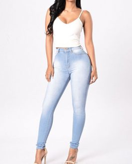 Women High Waist Denim Skinny Jean Pants