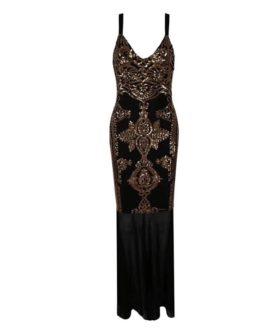 Women Lace Maxi V Neck Sexy Spaghetti Strap Club Party Dress