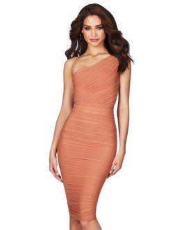 Women One Shoulder Sexy Sleeveless Bodycon Club Dress