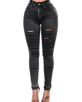 Women Ripped Jeans Distressed Skinny Denim Jeans