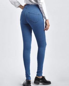 Women Sexy Denim Chain Fringe Denim Pants