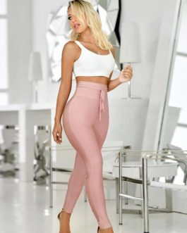 Women Sexy Skinny Bodycon Long Bandage Party Pants