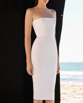 Women Strapless Bodycon Bandage Vestidos Verano Evening Party Dress