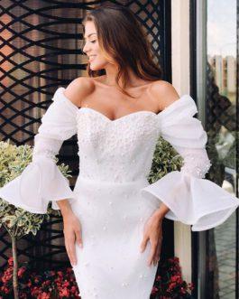 Women Vestidos Sexy Off Shoulder Pearls Lace Bodycon Party Dress