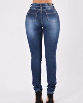 Women's Denim Skinny Ripped Long Jeans
