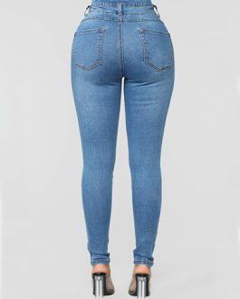 Women's Distressed Denim Jeans