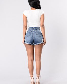 Women's Distressed Short Denim Shorts