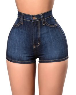 Women's High Waisted Denim Jean Shorts