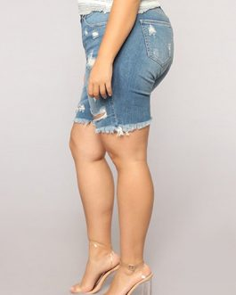 Women's Lower Thigh Length Cutoffs