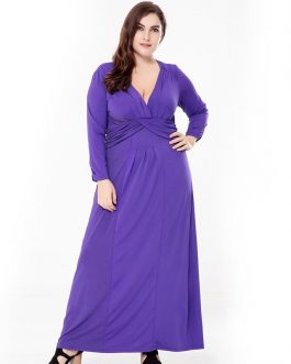 Bohemian evening party plus size long Maxi dress