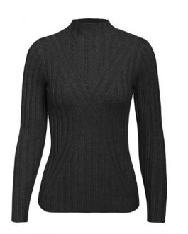 Elegant Slim Fit Turtleneck Elastic Knitted Pullover Sweater