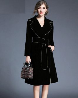Elegant Velvet long Sleeve party dress