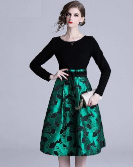 Elegant evening party Floral Vintage short dress