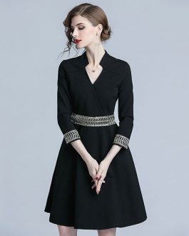 Elegant office lady short Party dress