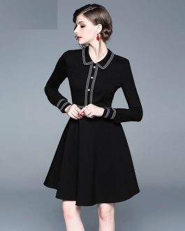 Elegant office work short dress