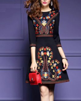 Embroidery Elegant Party Short dress