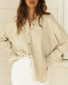 Fashion Long Sleeve Button Casual Shirt