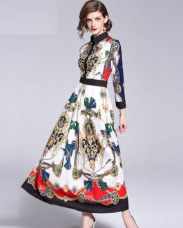 Floor-Length Full Sleeve Maxi Dress