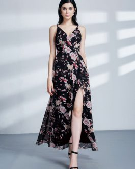 Floral Chiffon Formal Party Dress