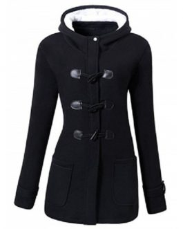 Hooded Plus Size Duffle Coat