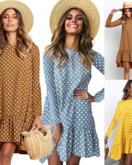 Long Sleeve Beach Mini Casual Boho Dress