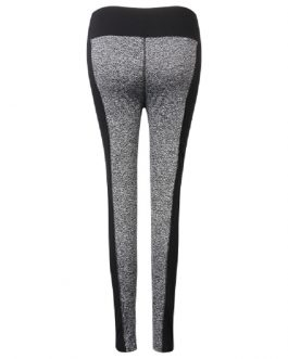 Plus Size Color Block High Elastic Hips Up Work Out Yoga Leggings Pants