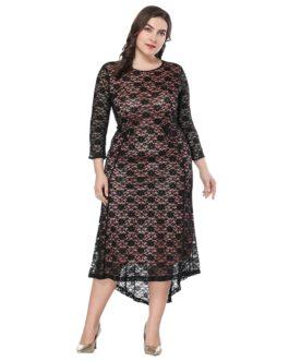 Plus size Elegant lace ffice lady Party dress