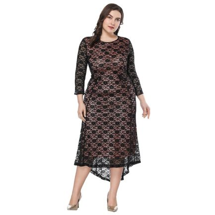 Plus size Elegant lace ffice lady Party dress