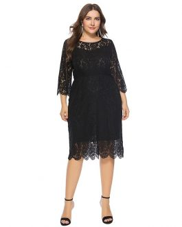 Plus size lace sexy bodycon party dress