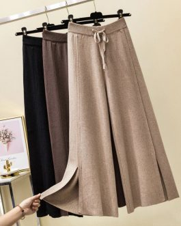 Pure Split Soft Cashmere Sweater Pants