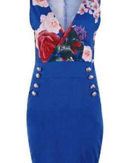 Sexy V Neck Sleeveless Pocket Elegant Slim Party Dress