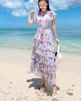 Silk Bohemian Beach Party Dress