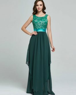 Sleeveless Jacquard Draped Long Dress