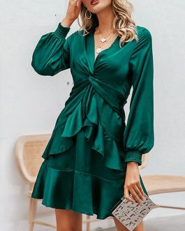 Streetwear Sexy V Neck Mini Dress