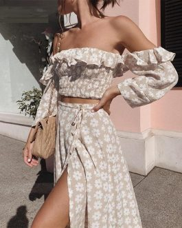 Twist Off Shoulder Casual Dress