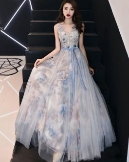V Neck Graduation Prom Party Dress