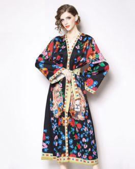 Vintage Elegant Floral Maxi Dress