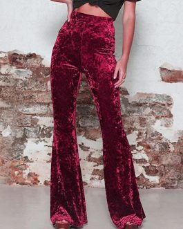 Vintage Velvet High waist Fare Pants