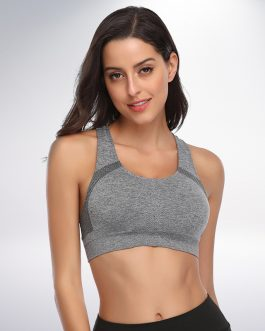 Wireless No Padding Racerback Seamless Sports Bra