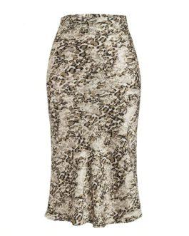 Zebra stripe High waist midi skirt