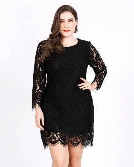 lace plus size bodycon Sexy mini short dress