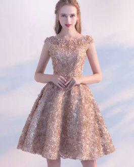 A Line Knee Length Party Dress