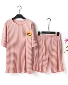 Casual Cotton Overhead Loose Pajama Set