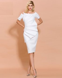 Elegant Knee-length Bodycon Dress