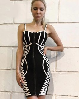 Elegant Sexy Spaghetti Strap Night Out Bodycon Dress