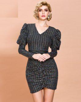 Elegant Shiny Mini Bodycon Dress