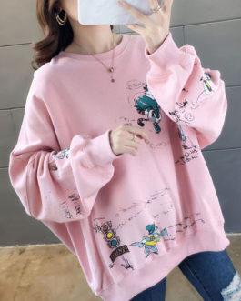 Outerwear Long Sleeves Printed Sweatshirt